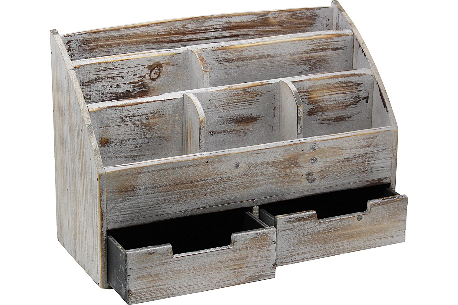 new products Vintage Rustic Wooden Office Desk Organizer mail sorter