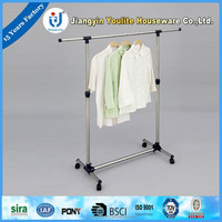 retractable round tube laundry hanger rack