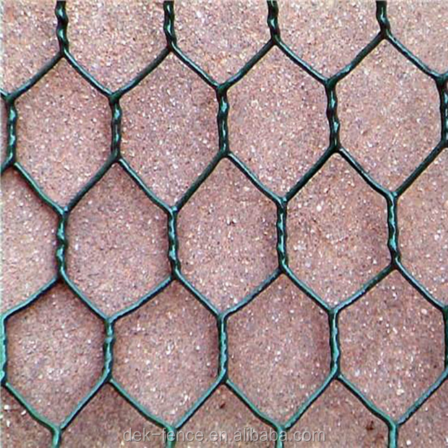 Crawfish Pvc Coated Hexagonal lowes Chicken Wire Mesh rolls for sale
