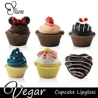 Cup cake Lip gloss round plastic container