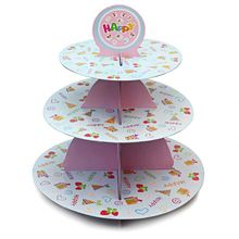 HIC cheese cake paper hanging wall display rack, wholesale wedding party cake stands