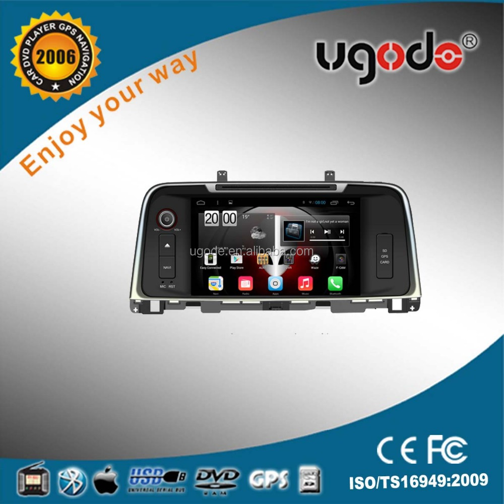 ugode HD capacitive touch screen android auto car dvd gps audio for K5 2015