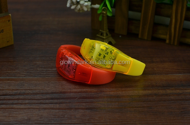 christmas Sale Flashing Illumination LED Bracelet With Logo,sound activated led bracelet