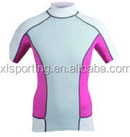 Mens Swimming Shirts - Short Sleeve rash guard lycra top