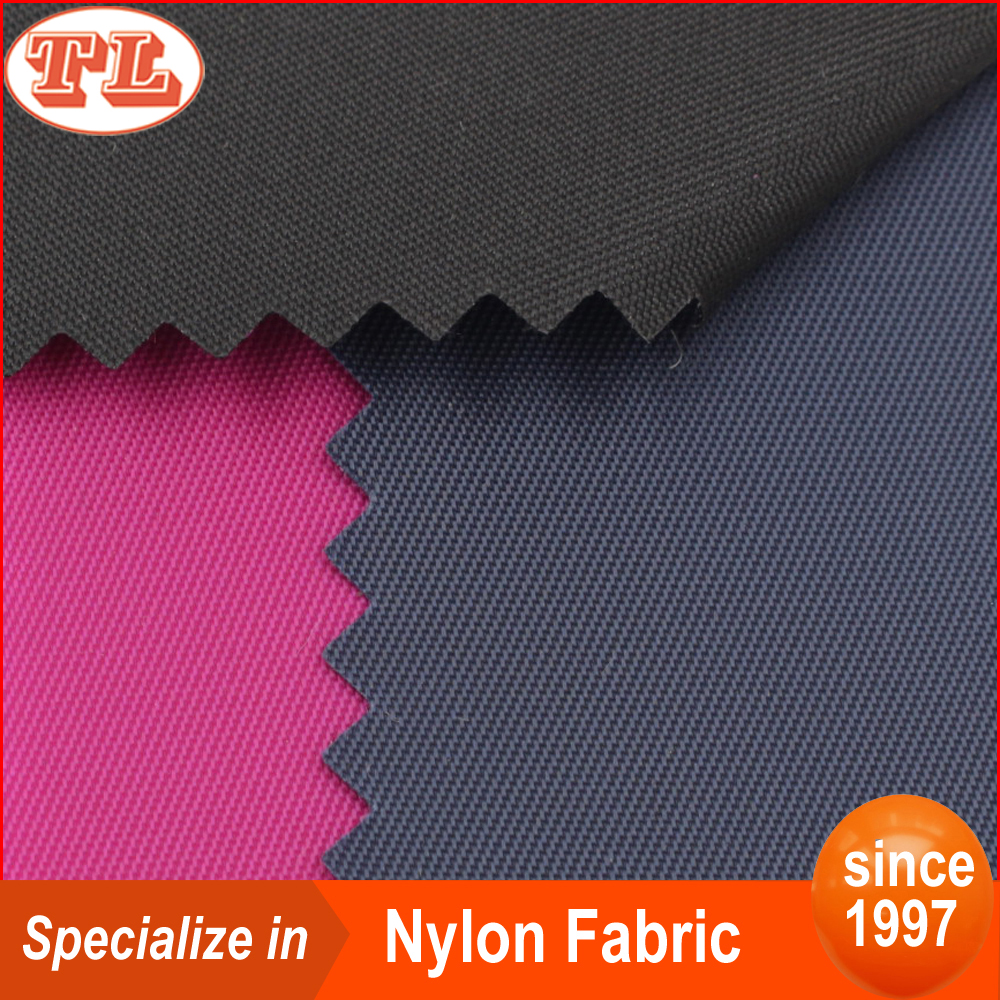 in-stock waterproof 100% nylon 230T twill pu coated nylon fabric for bean bag inflatable sofa