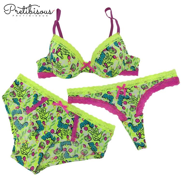 New fashion underwear high quality intimates print bra and panties set.   b394e8ab1