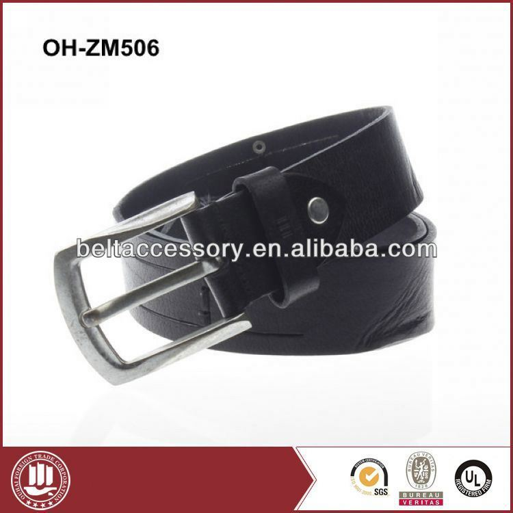 High-end man leather belt with funny belt buckle