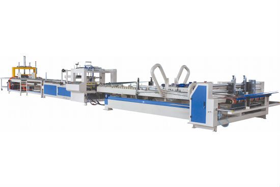 Fully auto corrugated box flap pasting machine (folder gluer machine)