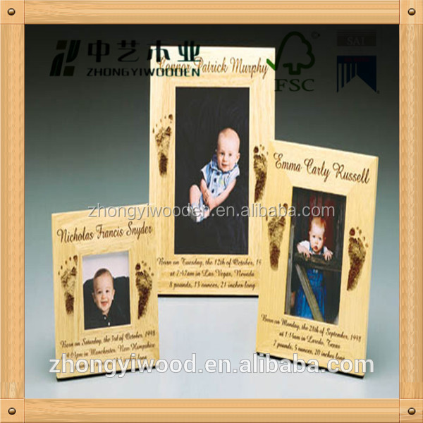 China factory FSC Wooden photo Picture photo Frame for children memory