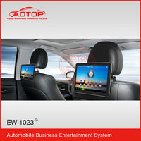 1080p Android OS Removable Car Headrest Monitor With WIFI,3G,Capacitive Panel,Game Player