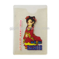 2015 environmental promotional clear plastic id card cover