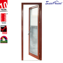 aluminum wood finish color double glazed casement design sound proof french door