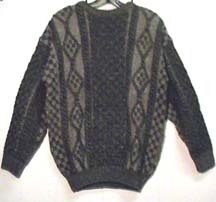 New Adults H/Loomed Sweater Crewneck Blacksheep Stone