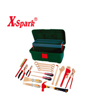 Non sparking double end box spanner wrench set