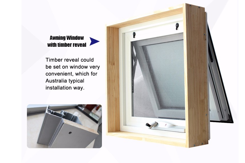 Aluminium Chain Winder Awning Window With Australia Standard Certificates