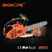 26cc gas chain saw cs2500 small mini chain saw for home garden use