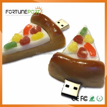 12.25 Xmas Gift 3d Pizza Shaped USB Flash Drive Pizza USB Stick 128mb/512mb/1gb for Fast Food Restaurant Promotion