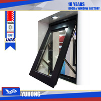 Horizontally Pivoted Customized Aluminum Alloy awning windows with tempered glass