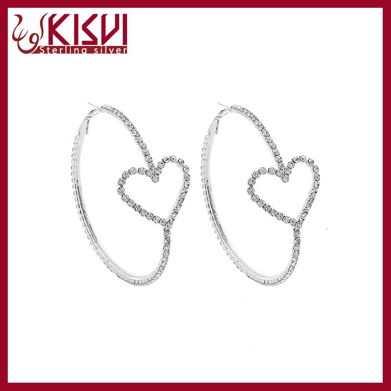jewelry fashion heart shape earrings Good quality with low price