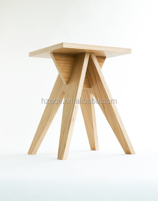 Dismountable plywood stool