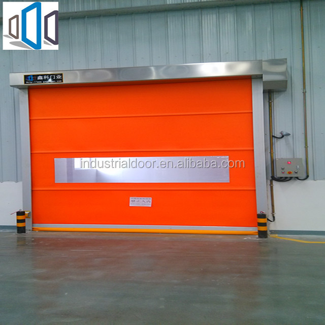 PVC Roll Up Fast Door Fabric/ Industrial Roller Shutter High Speed Door approved/High Speed Door