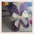 latest wedding card designs laser cut flower purple and gold wedding invitations
