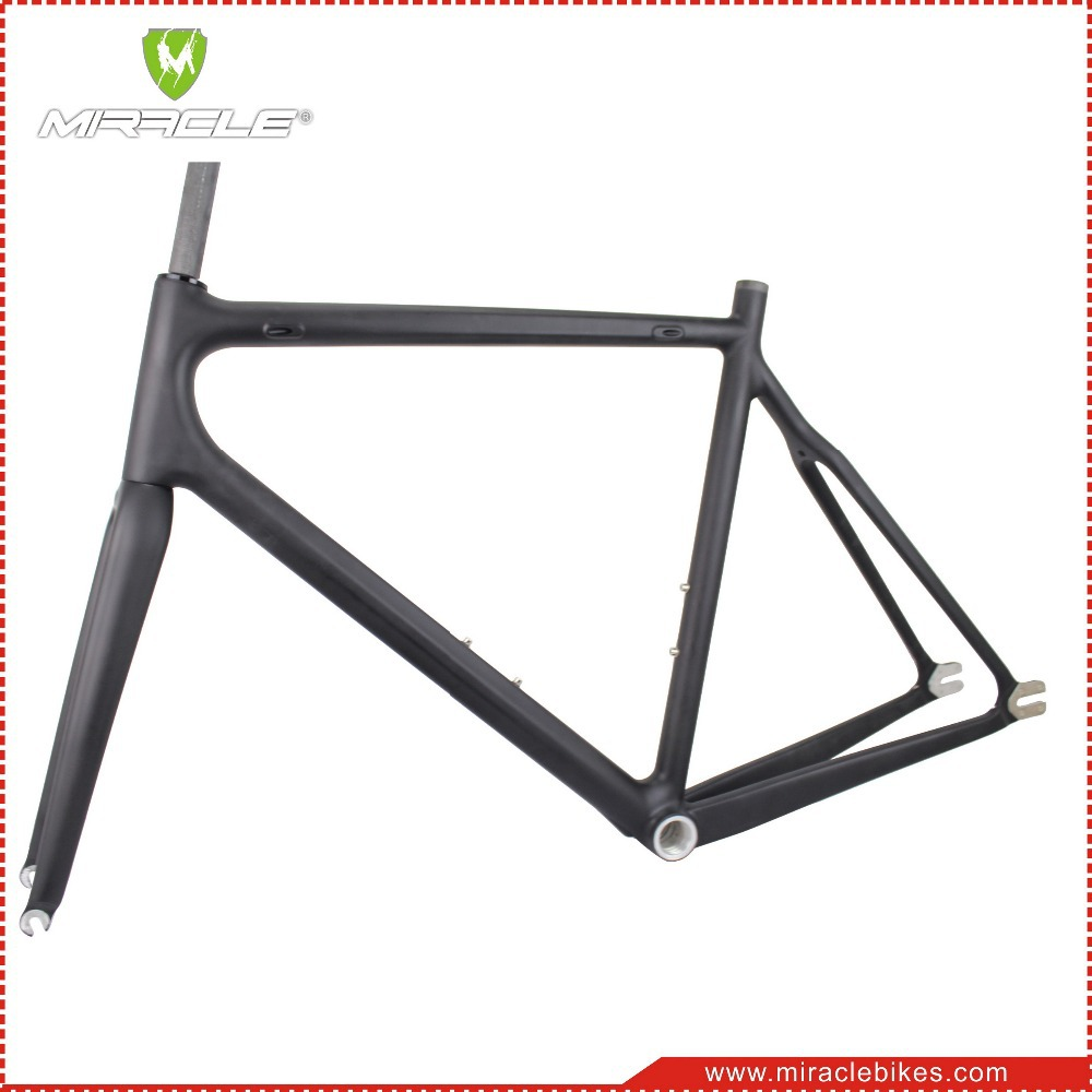 Miracle 2016 Carbon Fixed Gear Bicycle Frame, Single Speed 700C Chinese OEM Fixed Gear Carbon Bike Frame 47/52/56cm