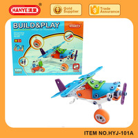 New DIY items toys assembly concept plane educational blocks 118pcs