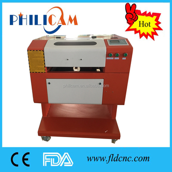 China cnc mini wood acrylic rubber cutting engraving laser machine 5030 with 40w 60w 80w laser tube