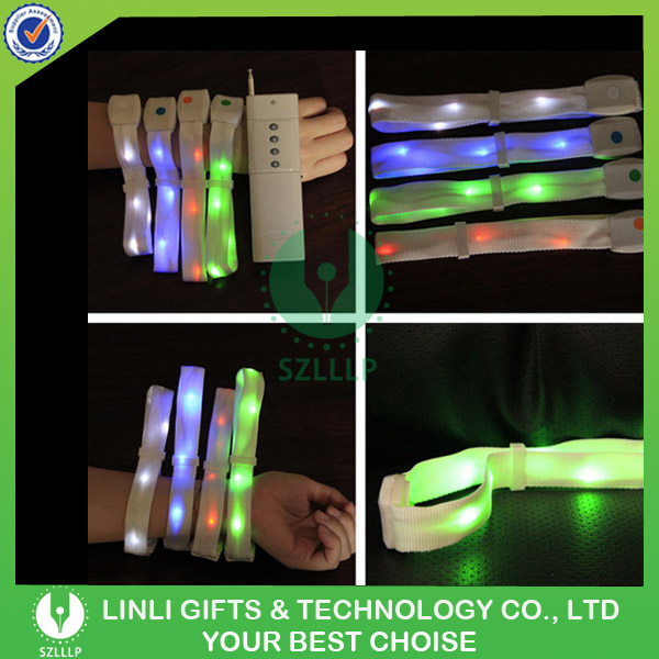 Hot Sale Custom Party Remote Controlled Light Up Flashing LED Bracelet