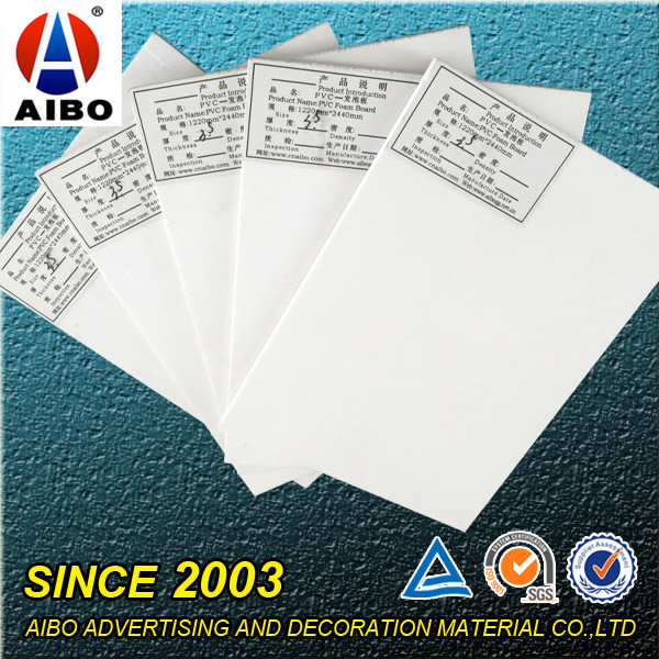 white free foam pvc sheet advertising pvc sun board