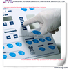 Hot embossed click touch Membrane keypads Autotype material and 3M gule