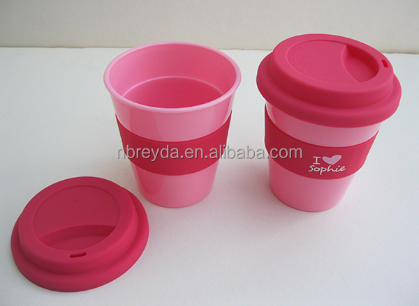 8OZ PP Cup with Strap Coffee Mug with Silicon Lid