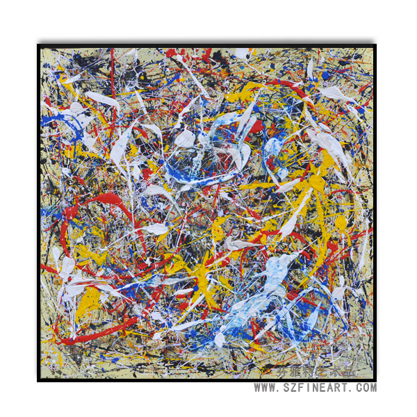 Hot Selling Abstract Pollock Handmade Painting
