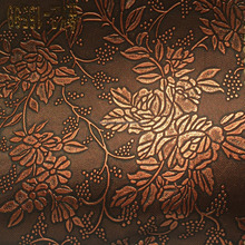 Antique Flower Design Upholstery PVC Leather for Hotel Restaurant KTV Wall Decoration