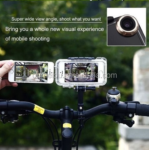 hot ipx8 waterproof phone case for iphone 5s with 120degree angle lens as action camera Shenzhen factory