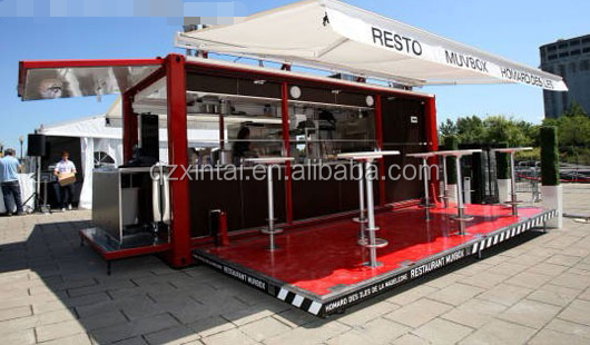 Environmental Friendly Solid modular shipping container restaurant
