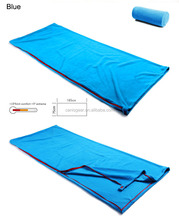 New Product Custom Logo Inflatable polar fleece Fabric traveling camping sleeping bag for outdoor camping