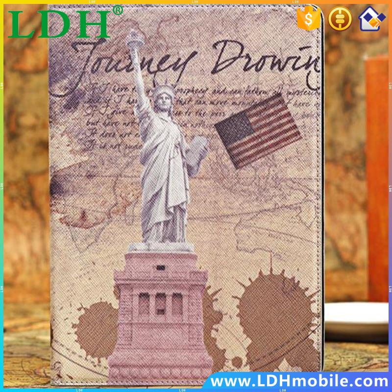 New ! Retro Ancient Famous Places Case For ipad 5 air Senic Spots Book Leather Cover ipad5 Eiffel Tower Big Ben Vintage FET03557