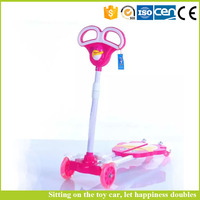 Kids 4 wheel kick scooter hot sale plastic child scooter with CE certificate