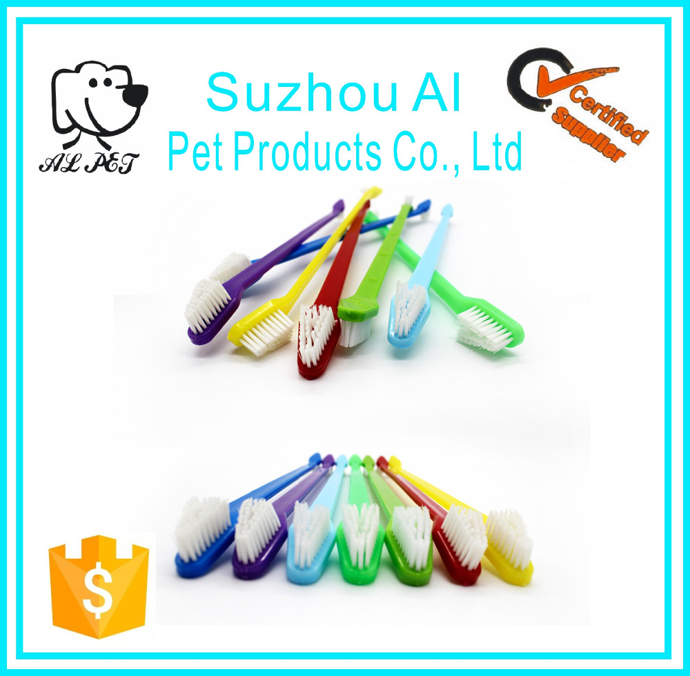 Cat Puppy Teeth Clean Brush Colorful Double Head Pet Grooming Dog Toothbrush