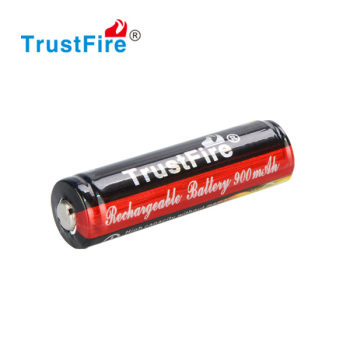 Trustfire 500 cycles 3.7V ICR 14500 900mah 4.2v li-ion battery from China original factory