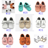 Handmade Fashion Tassels Baby Moccasin Newborn Babies Shoes leather Prewalkers shoes