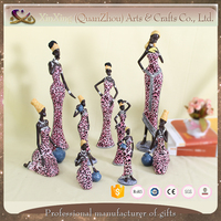 Sexy african lady resin handicraft products for home decoration