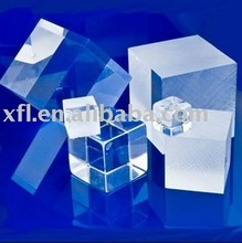 Beautiful solid cube clear acrylic display logo block