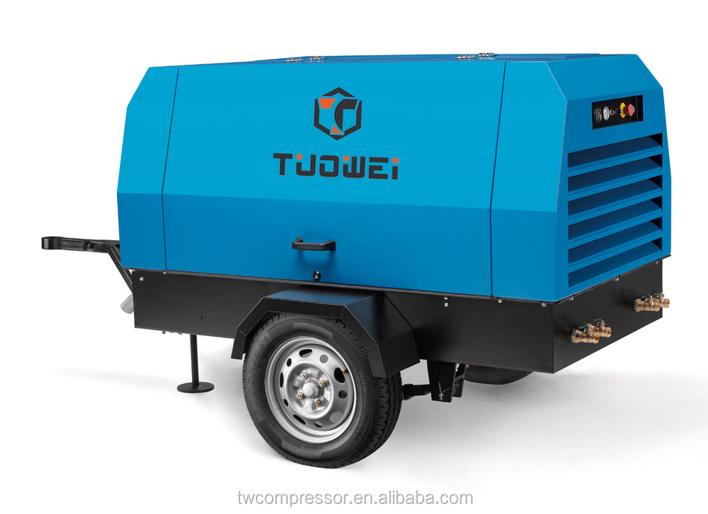 Diesel power battery powered Economical portable 40 bar air compressor