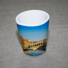 Personalized glass wine cup ceramic wine mug sublimation shot glass