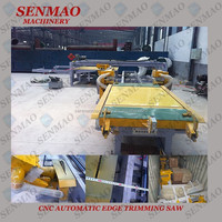 High speed 48'*96 Melamine plywood double saw machine /plywood edge trimming saw