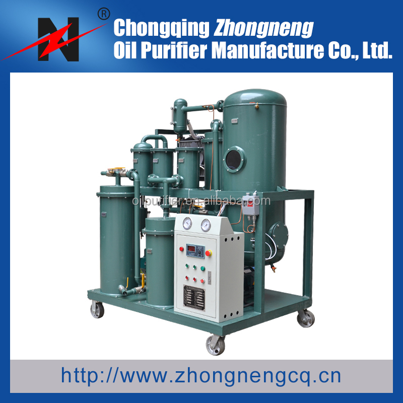 ZHONGNENG TYA Series Lube Oil Filtration Machine for used lube oil and hydraulic oil