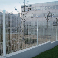 powder coated security welded wire mesh fence used for garden with cheap price